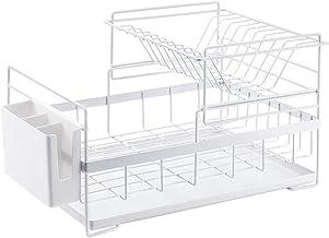 Kitchen Double Dish | Cutlery Storage Rack - with Drain Pan, Cutlery Basket for Kitchen, Storage
