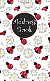 Address Book: Ladybug Design with Alphabetical Tabs, Room for Addresses, Phone Numbers, Email, Social Media, Notes, and Special Website and Password Log (5x8 Address Book Collection)