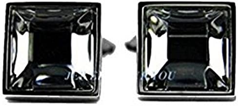 BACCARAT B MANIA CUFFLINKS .925 STERLING SILVER BLACK MORDORE NO BOX! NEW FRANCE