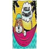 Beach Towel Lindo Perro Beagle En Panamá Gafas Adultos Toallas De Microfibra Toalla De Playa Toalla De Piscina Absorbente Sábana De Baño Personalizada 80X130Cm Viaje Suave Unisex