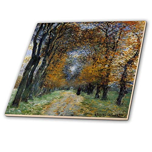3dRose Print of Monet Painting of Path in Forest - Ceramic Tile, 8-Inch (ct_205058_3)