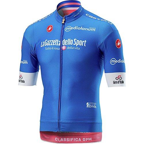 Maillot de Ciclismo de Manga Corta Castelli 2018 Giro Race Azul
