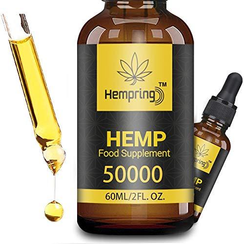 Prämie Öl Tropfen - 83 PROZENT, Natürliches Öl, Vegan | Hohe Festigkeit, Große 60 ML Flasche Hochdosiert,Omega 3,6,9 (50000)