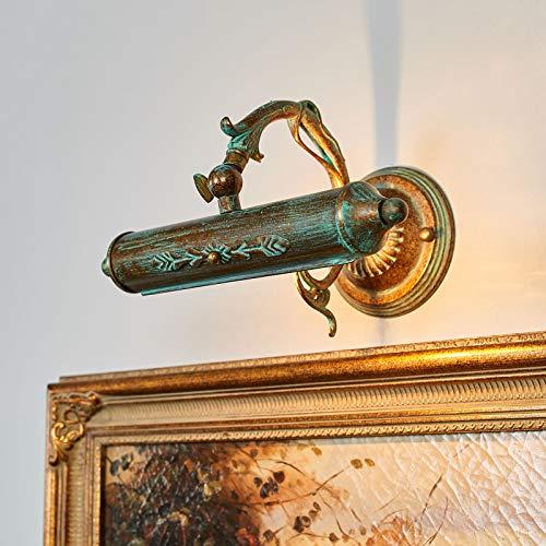 Lindby Wandleuchte, Wandlampe Innen 'Kalea' (Retro, Vintage, Antik) in Bronze aus Metall u.a. für Wohnzimmer & Esszimmer (1 flammig, E14, A++) - Bilderleuchte, Wandstrahler, Wandbeleuchtung
