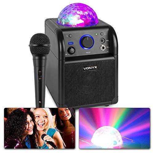 Vonyx SBS50B Karaokeset met Microfoon, Bluetooth en Discolamp - Zwart