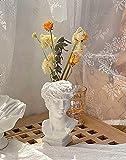FunSpace Florero de estilo griego romano para suculentas, maceta para brochas de maquillaje, soporte para bolígrafos, gran regalo para decoración del hogar u oficina