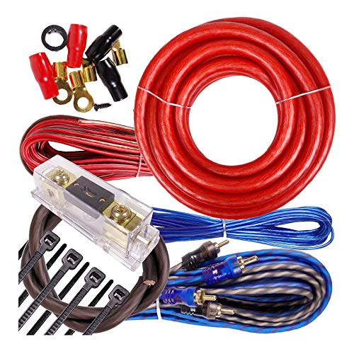 Complete 3000W Gravity 4 Gauge Amplifier Installation Wiring Kit Amp PK1 4 Ga Red - for Installer and DIY Hobbyist - Perfect for Car/Truck/Motorcycle/RV/ATV