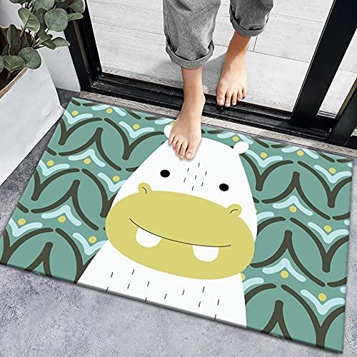 ZAZN Tappeto Lavabile Antiscivolo Resistente all'Usura Tappeto dei Cartoni Animati Tappetini Assorbenti per Il Bagno Carino Tappetini per Porte D'Ingresso della Casa Tappetini da Cucina