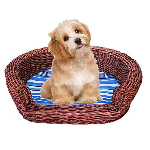 Cama del Perro Cama del Animal Doméstico De Ratán Weaving
