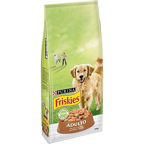 Purina Friskies Pienso para Perro Adulto Aves y Verduras 15 Kg