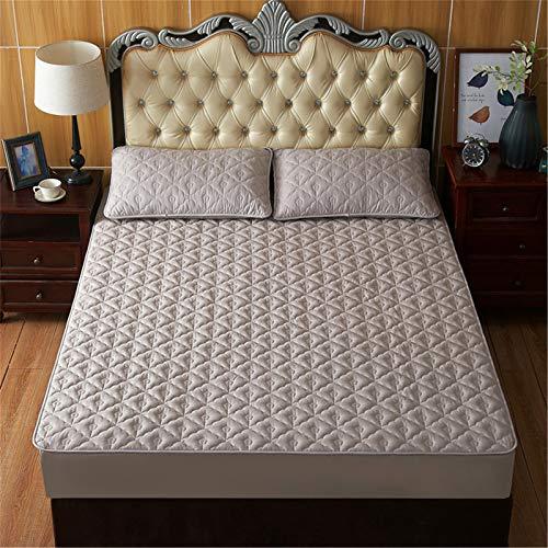 DZYP Funda protectora de colchón, todo incluido, a prueba de polvo, antibacteriano, antideslizante y antiácaros, apto para varios tipos de camas. (gris claro, 180 x 200 + 30 cm)