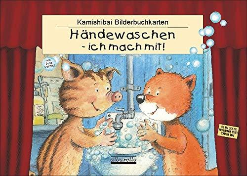 HÄNDEWASCHEN - ICH MACH MIT! 11 Kamishibai-Bilderbuchkarten: Für alle handelsüblichen Tischtheater im DIN A3 Format