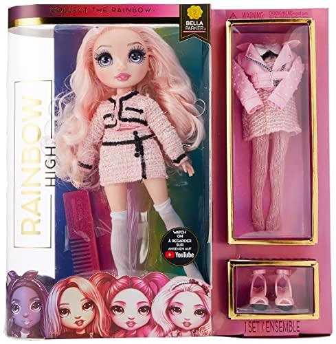 Rainbow High Fashion Doll - Bella Parker - Rosa Puppe mit Luxus-Outfits, Accessoires und Puppenständer - Rainbow High Series 2 - Perfektes Geschenk für Mädchen ab 6 Jahren