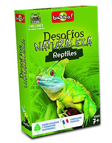 Bioviva- Juego de cartas Desafíos Naturaleza Reptiles (Asmodee 308) , color/modelo surtido