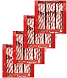 Brachs Original Hard Peppermint Candy Canes 6 oz 12 Ct for Christmas - Pack of 4 (Peppermint)