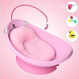 乳児の月の浴槽大きなベース滑り止め高品質PP素材ペットクリーニング浴槽は、Net死を防ぐためにバスネットを与えます,ピンク