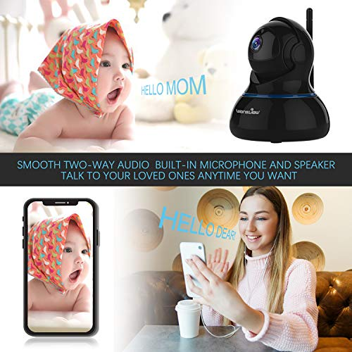 Wansview Wireless 1080P IP Camera, WiFi Home Security Surveillance Camera for Baby /Elder/ Pet/Nanny Monitor, Pan/Tilt, Two-Way Audio & Night Vision SD card slot Q3-S