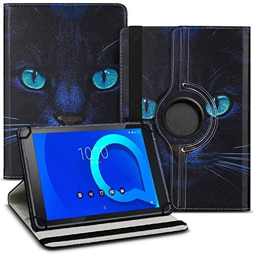 Tablet Hülle kompatibel für Alcatel 1T 10 Tasche Schutzhülle Hülle Schutz Cover 360° Drehbar 10.1 Zoll Etui, Farbe:Motiv 4
