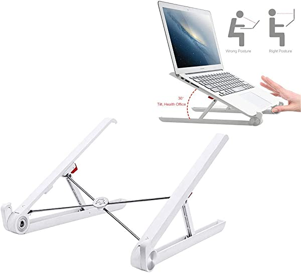 TQZY Adjustable Laptop Holder For Desk Portable Lightweight Notebook Holder Adjustable Eye Level Ergonomic Design