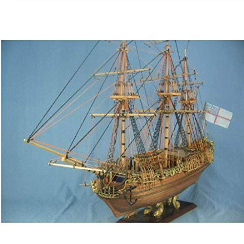 XIUYU Wohnzimmerdekorationen Chem Sailboat Modell Modell 1/50 britischen Silk-Stocking Royal Yacht Model Kit 1749 Schiffs-Modell-Kit