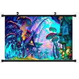 BigFamily Psychedelic Mushroom Town Poster Mural Picture