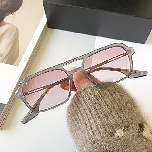 SXRAI Gafas de Sol rectangulares polarizadas Mujeres Hombres Gafas de Sol polarizadas Hombres Unisex,C2