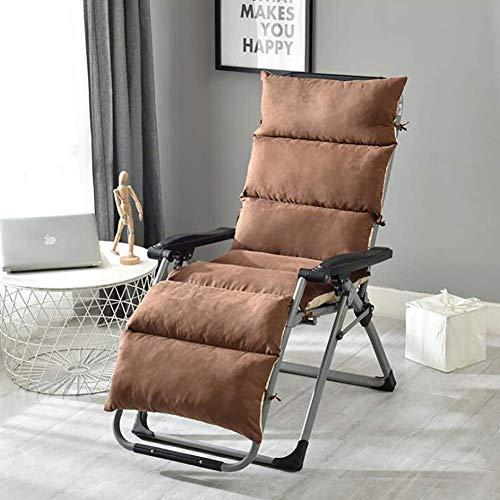 N / A Cushion Garden Salon De Chair Thick Breathable Washable Cushion Swing from Chair with, Non Slip Pad Sun Lounger, Chaise Lounger Cushion Brown 50x125cm (20x49inch),Brown,50x125cm (2.
