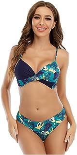 Gutsbox Damski zestaw bikini moda kąpielowa Push Up z nadrukiem kostium kąpielowy strój plażowy