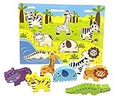 RB&G Puzle de madera con piezas grandes, para niños a partir de 1 año de hipopótamo & Co.