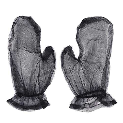 BESPORTBLE Mesh Gloves Insects Net Gloves Mosquito Net Gloves Mesh Hands Protection Fishing Gloves for Outdoor Hiking Fishing