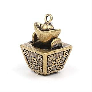 ZGPTX Brass Retro Day Into The Fight Gold Key Fog Pendant Pure Copper Into The Treasure Into The Small Crane Old Copper