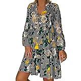 Vestido De Verano para Mujer, Estilo Bohemio, Estampado Floral, Gasa, Vestido De Playa, TúNica, Mini Vestido De Fiesta Suelto