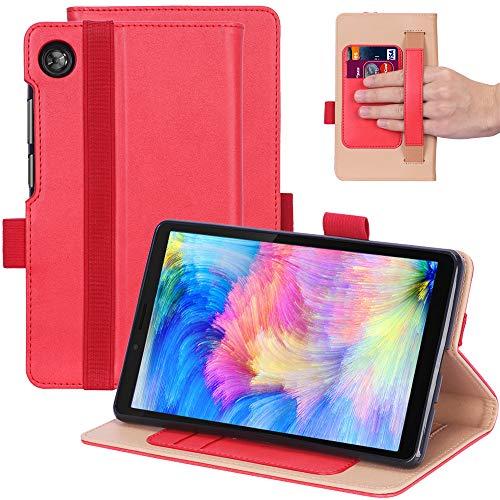 KUWEI Hulle fur Lenovo Tab M7 TB 7305F 70 PU Leder Flip Schutzhulle Ultra Dunn Superleicht Case Tasche Standerfunktion fur Lenovo Tab M7 70 Inch Tablet PC Red
