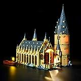 BRIKSMAX Kit de Iluminación Led para Harry Potter-Gran Comedor de Hogwarts-Compatible con Ladrillos de Construcción Lego Modelo 75954-Juego de Legos no Incluido