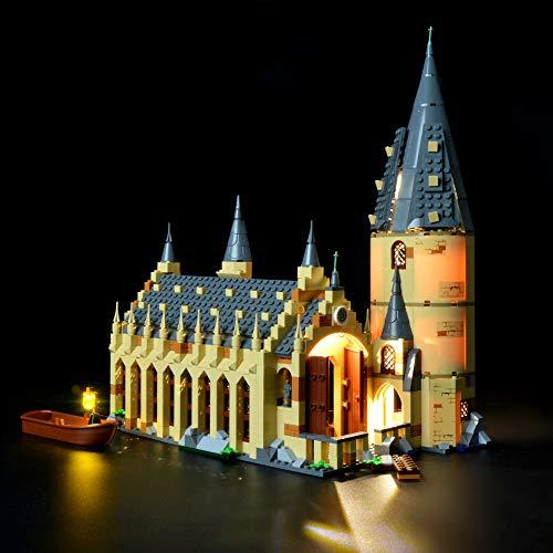 BRIKSMAX Kit di Illuminazione a LED per Harry Potter-La Sala Grande di Hogwarts, Compatibile con Il Modello Lego 75954 Mattoncini da Costruzioni - Non Include Il Set Lego