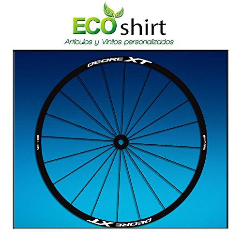 Ecoshirt M5-RVEH-INKP Aufkleber Stickers Felge Shimano Deore XT Am49 MTB Downhill weiß 29 Zoll