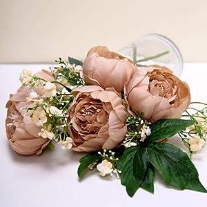 balsacircle 10 mauve 3-inch artificial faux silk peony flower heads wedding party events reception catering decorations supplies supplies silk flower arrangements