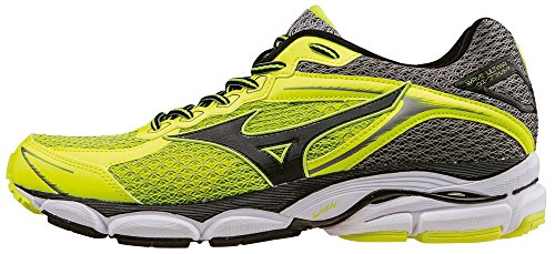 Mizuno Wave Ultima 7 - J1GR150907 Scarpe da corsa, Uomo, Giallo (SafetyYellow/Black/MetalicShadow), 40 1/2
