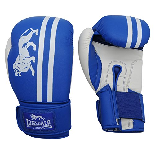 Lonsdale London Club Sparring Boxing Gloves Gym Fitness Bag Sparring Gloves Blue/White 10 oz