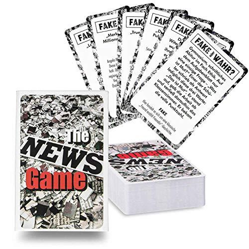The News Game Kartenspiel Partyspiel - REAL oder Fake News ? Das Gesellschaftsspiel Quartett mit den schier unglaublichsten Geschichten! Mit riesigem Spiele-Umfang mit 120+ Karten DEUTSCHE Version