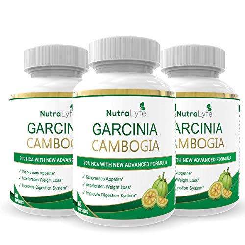 NutraLyfe Garcinia Cambogia Extract with Green Tea | Organic, Pure, Natural & Herbal 70% HCA | 800 Mg Capsules - 60 Capsules (Pack of 1)