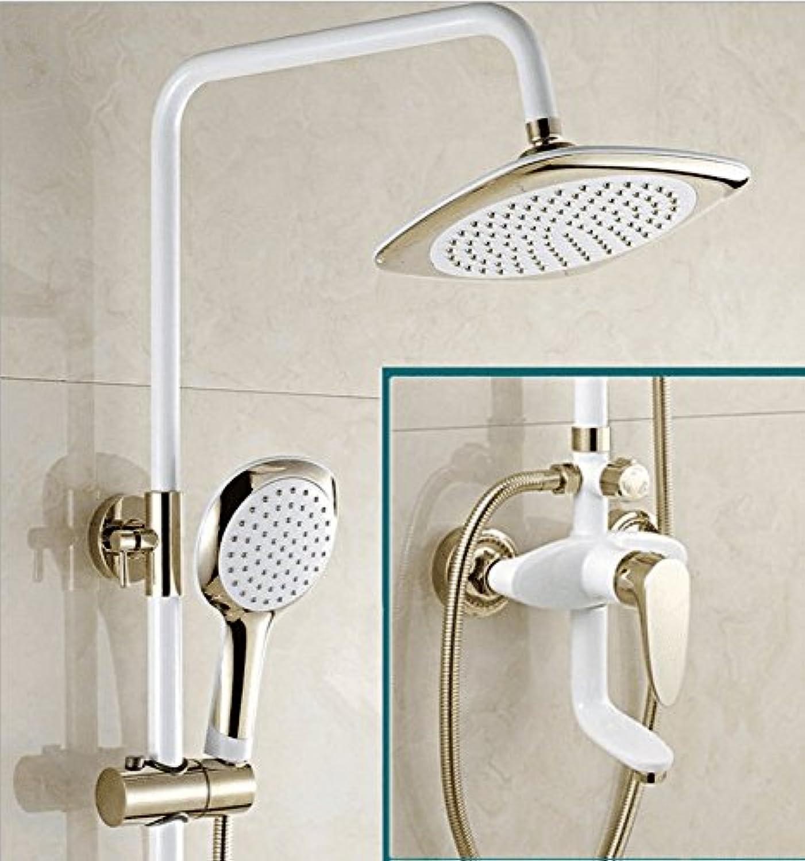 AQMMi Waschtischarmatur Wasserhahn Bad Mischbatterie Messing Wei Dusche Set Booster Düse Warmes Und Kaltes Wasser Badezimmer Mischbatterie