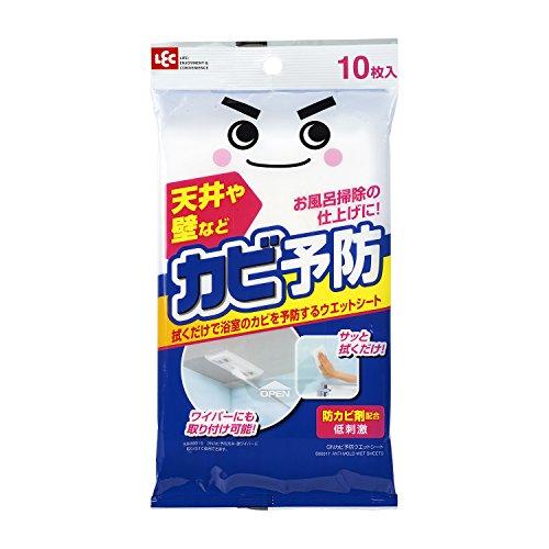 レック 激落ち カビ予防 浴室用 ウェットシート (防カビ剤配合) 10枚入 S00017