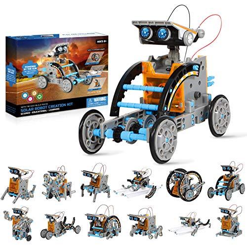 robots for students VEPOWER 12-in-1 Solar Robot Kit STEM Projects Educational Science Building Toys Gifts for Kids 8 9 10 11 12 13 14 Years Old Boys Girls