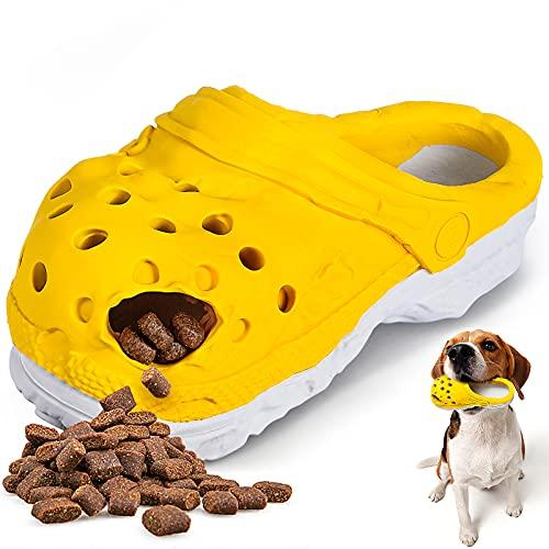 G.C Jouet Chien Indestructible Gros Chien Interactif, Chaussure Caoutchouc Jouets à Mâcher, Indestructible Brosse à Dent pour Moyenne Grande Chiot Animal de Compagnie