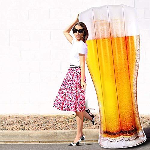 DJYD 180cm 70inch Inflable Gigante Cerveza Copa Imprimir Flotador de Aire Salón...