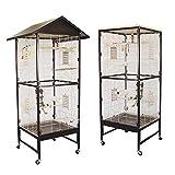 Montana Cages ® | Voliere, Zimmervoliere, Käfig Villa Casa 60 - Choco/Vanilla