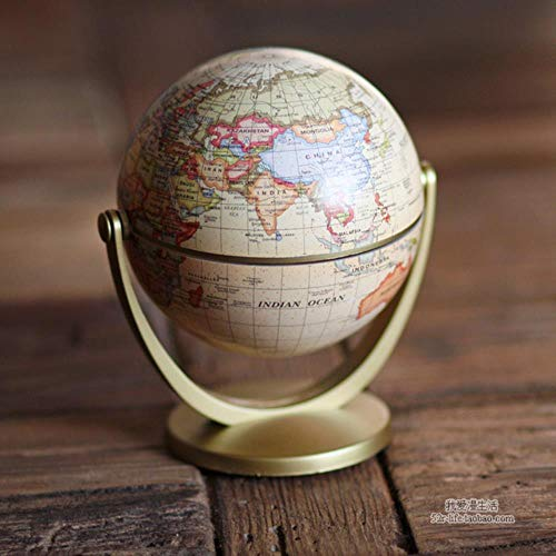 N/M Europäische Retro Globe Figuren Ornamente Universal Globe Modell Miniatur Home Decoration Kid Spielzeug, gelb
