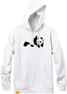 Enjoi Panda Flocking White Pullover Hoodie