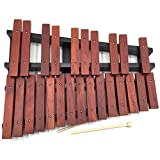 MSHK Xylophone 25 Note Percussion Bois Cadeau Éducatif pour Adultes Et Enfants Musique avec 2 Baguettes